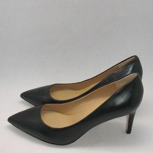 Diane Von Furstenberg DVF Black Leather Heels